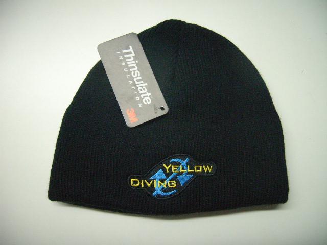 Yellow Diving Thinsulate Mütze schwarz, mit Logo