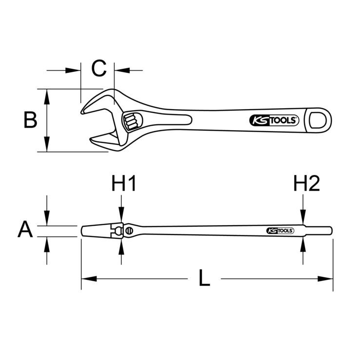 Edelstahl Rollgabelschlüssel KS-Tools