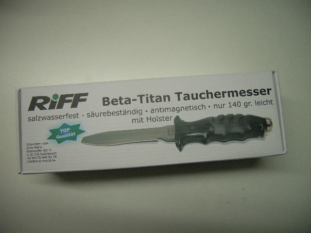 Riff Tauchermesser mit Aluminium-Titanium Klinge