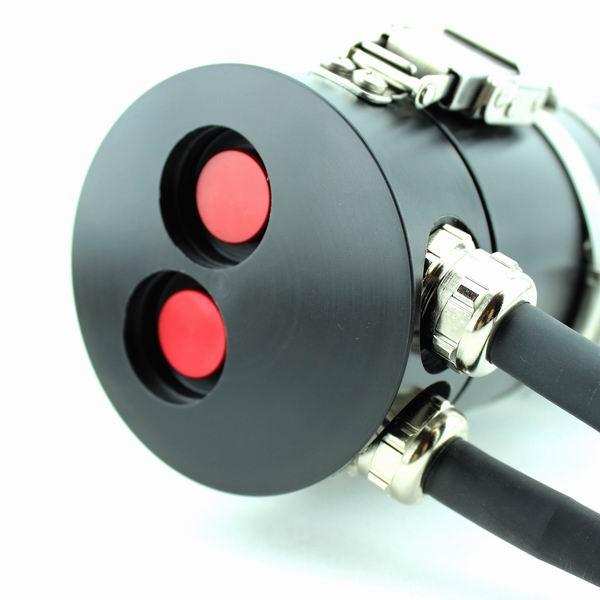 Side Mount LED Akkutanklampe 20 W, 2 Piezo Schalter, 20,8 Ah Akku , nicht trennbares Kabel am Lampenkopf, 1x E/O Cord 65cm für Heizung