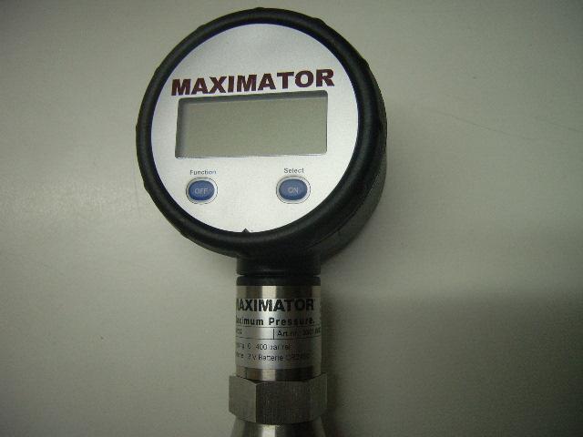 Sauerstoff-Manometer 0-400 bar Digital oder Analog