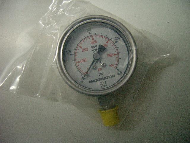 Sauerstoff-Manometer 0-400 bar Analog Kl. 1,6