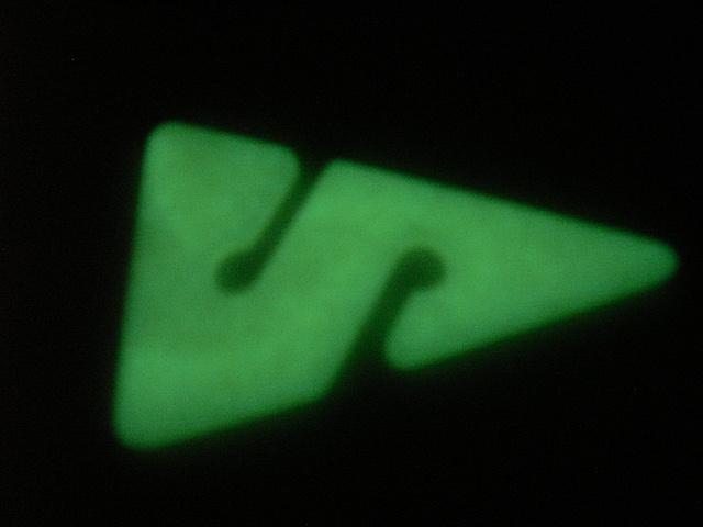 Fluoreszierende Line Arrows
