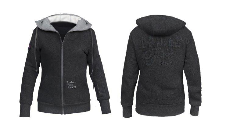 Ladies Light Blend hoodie-black