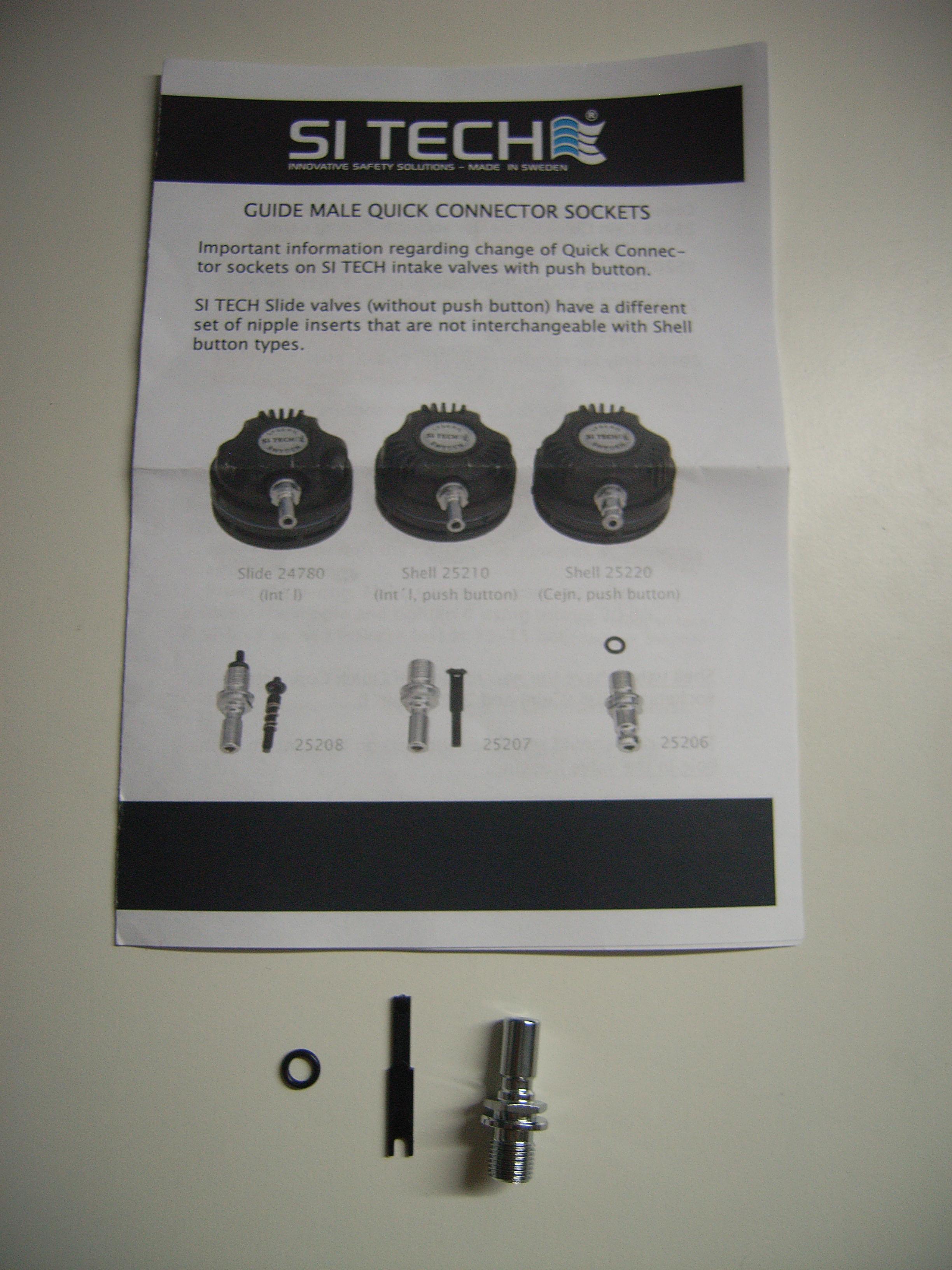 Standard Nippel für Si Tech Einlassventile