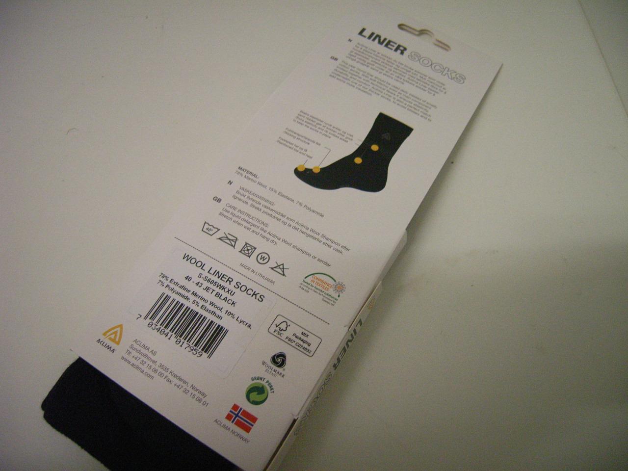 Aclima Liner Socks Gr. 44-48
