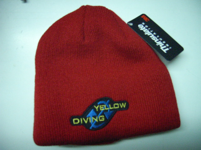 Yellow Diving Thinsulate Mütze rot, mit Logo