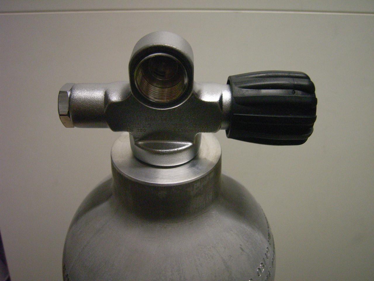 Luxfer Alu 7 Liter natur mit Brückenventil links 71020