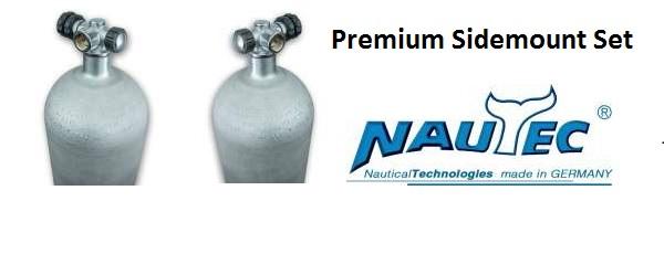Premium Sidemount Set mit Nautec Sidemountventilen