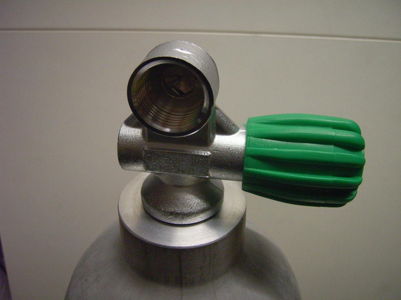 3 L MeS Alu Tauchflasche natur mit Ventil 12400RE ( Nitroxventil M26x2 rechts )