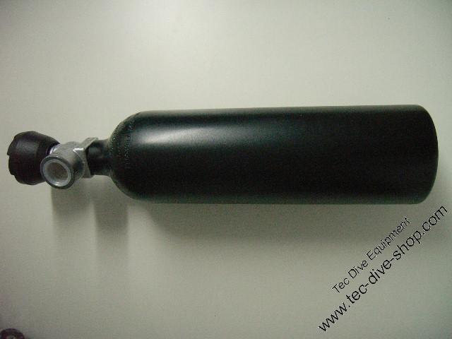 Luxfer Alu 0,85 L schwarz mit Ventil