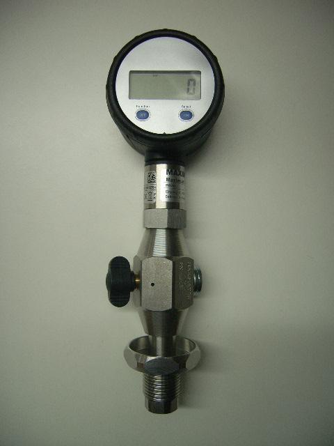 """Flaschendruckprüfmanometer Maximator analog oder digital, Luft 5/8"""""""