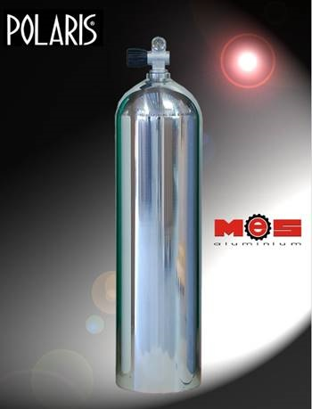 11,1 L  / 80 cft  oder 7L Alu Tauchflasche Poliert, verschiedene Ventile