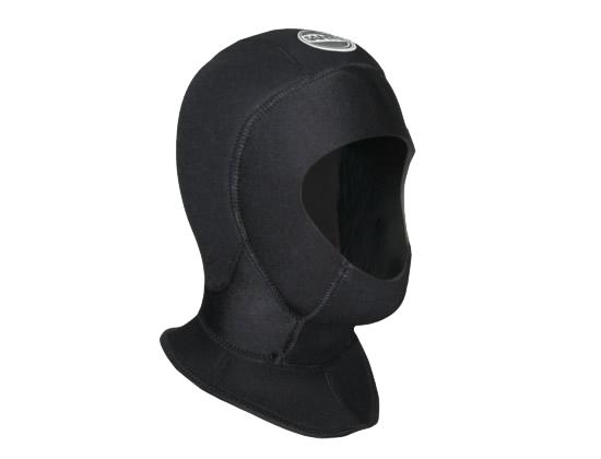 SANTI Kopfhaube Double Hood, 2x5 mm, Wärmekragen