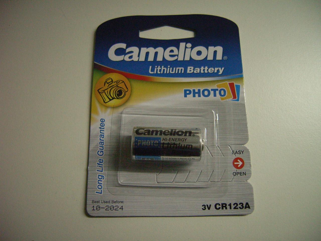Lithium-Photobatterie  3 V,  CR123A für Tauchlampen